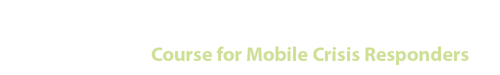 Course for Mobile Crisis Responders - MHIDD Professional Development Series A Series of Courses on the Mental Health Aspects of Intellectual and Developmental Disabilities